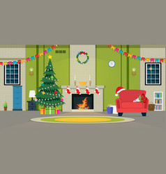 christmas party in living room vector image
