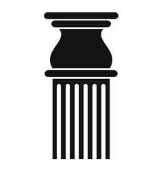 Classical column icon simple style vector