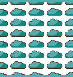 Cloud computing pattern background vector