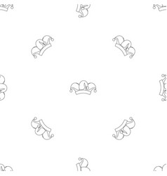clown job jester icon outline style vector image