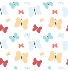 colorful butterflies silhouette seamless vector image