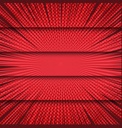 comic red bright horizontal banners vector image