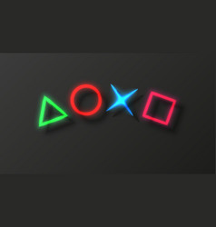 Computer game background full hd glow neon vector