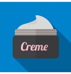 Cream flat icon vector image