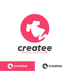 Creative tee tshirt maker printing studio logo vector
