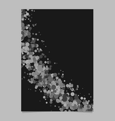 Curved blank abstract dispersed confetti dot vector