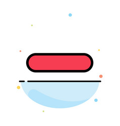 Delete less minus remove abstract flat color icon vector
