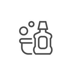 Detergent line icon vector
