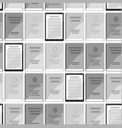 digital library seamless pattern set of books and vector image