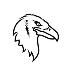 eagle head icon eagle mascot outline silhouette vector image