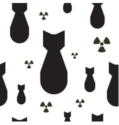 falling atom bombs with radiation symbols black vector image