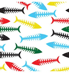 fishbone background vector image