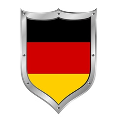 German flag button vector image