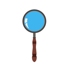 Glass magnifying icon search zoom magnifier vector