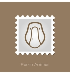 Goose stamp Animal head vector