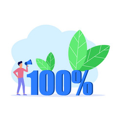 Graphic cartoon character 100 vector