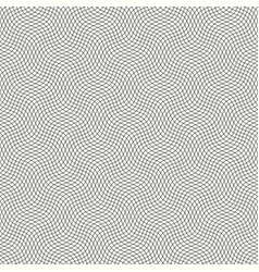 Guilloche pattern with diagonal wavy lines vector