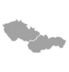 Halftone gray czechoslovakia map vector