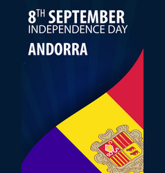 Independence day of andorra flag and patriotic vector
