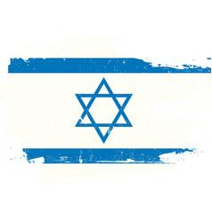 israel scratched flag vector image