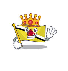 King flag brunei darussalam with character vector