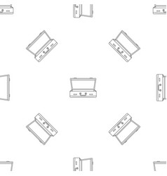 leather suitcase pattern seamless vector image