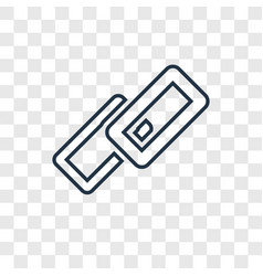 Link concept linear icon isolated on transparent vector