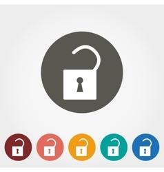 Lock icon flat vector