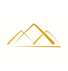 logo design element Pyramid mountain vector image
