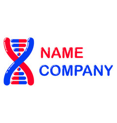 Logo for the company biotechnology vector