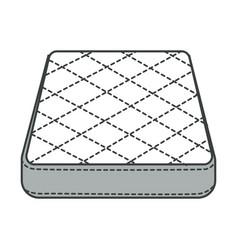 Mattress orthopedic bedding bedroom furniture vector
