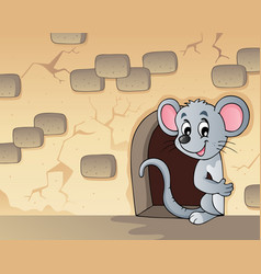 Mouse theme image 3 vector
