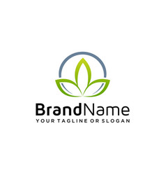 Natural logo design vector