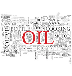Oil word cloud concept vector