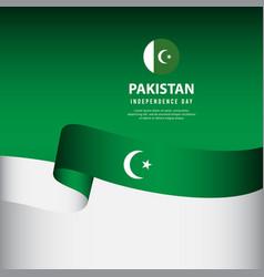 Pakistan independence day celebration banner set vector