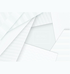 paper cut banner concept curved abstract vector image