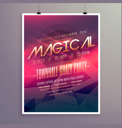 party flyer invitation template with purple color vector image