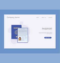 passport template identification document vector image