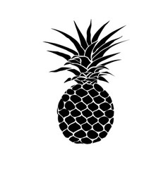 pineapple with leaf icon tropical fruit isolated vector image