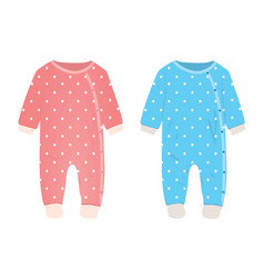 pink and blue baby romper vector image
