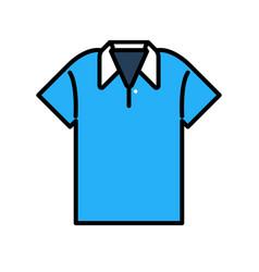 Polo shirt linecolor vector