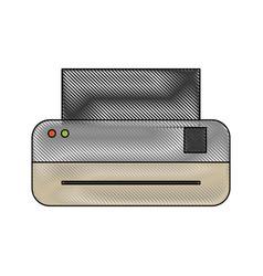 printer machine icon vector image