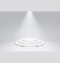 round podium pedestal with bright lighting a vector image