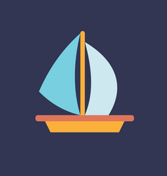 sailing boat icon set of great flat icons for vector image