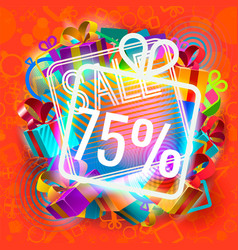 sale and bright gifts vector image