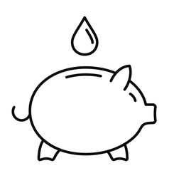 save piggy bank water icon outline style vector image