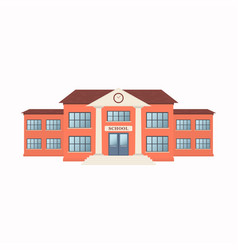 school building exterior isolated on white vector image