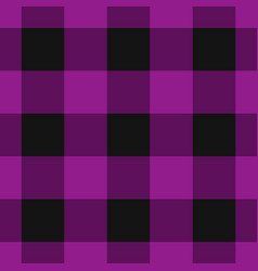 seamless black dark and bright purple tartan vector image