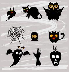 Set halloween vector