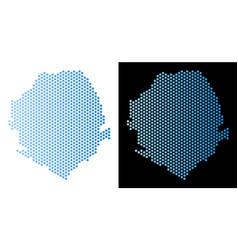 Sierra leone map honeycomb mosaic vector